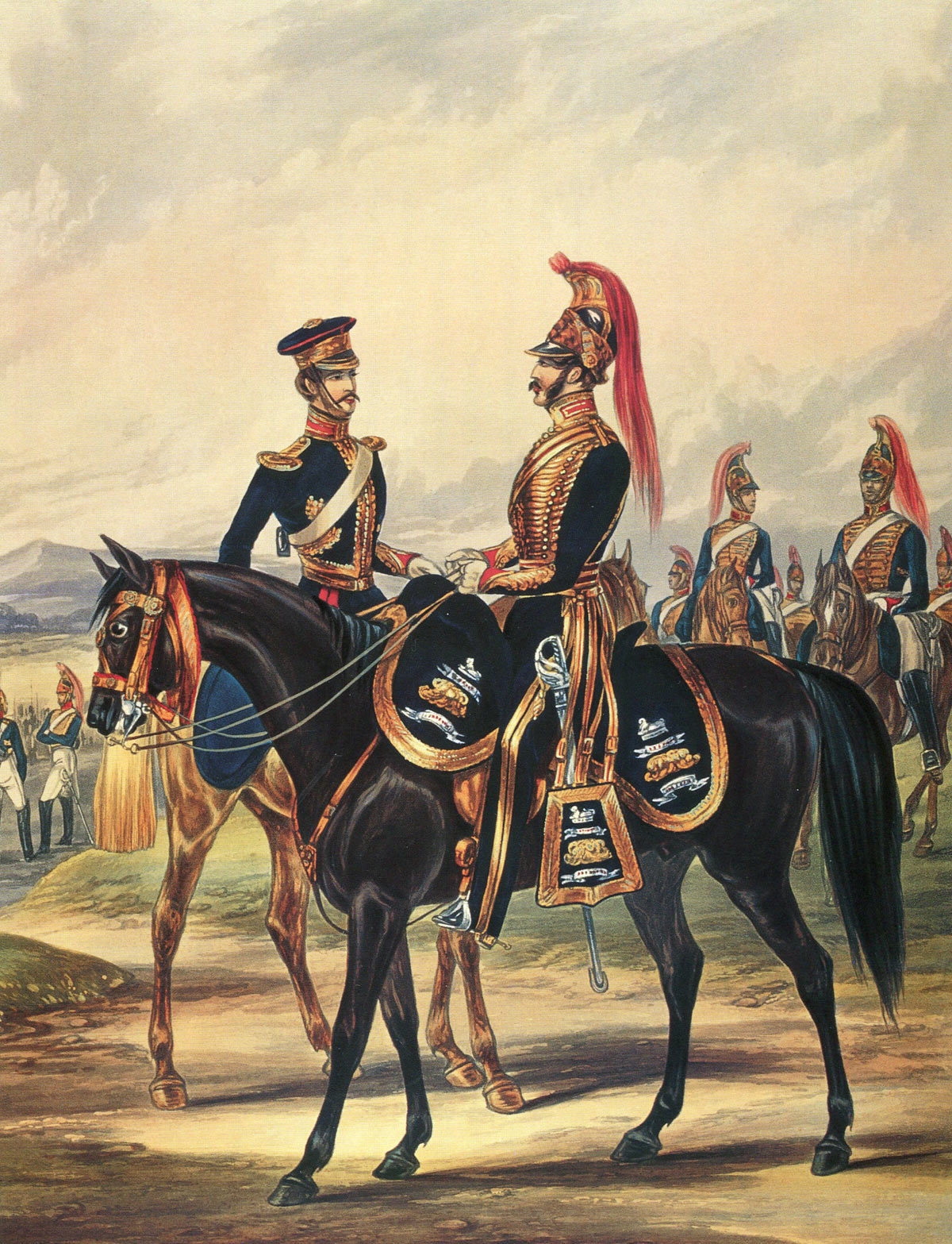 Bengal Horse Artillery: Battle of Kabul 1842 in the First Afghan War: picture by Ackermann
