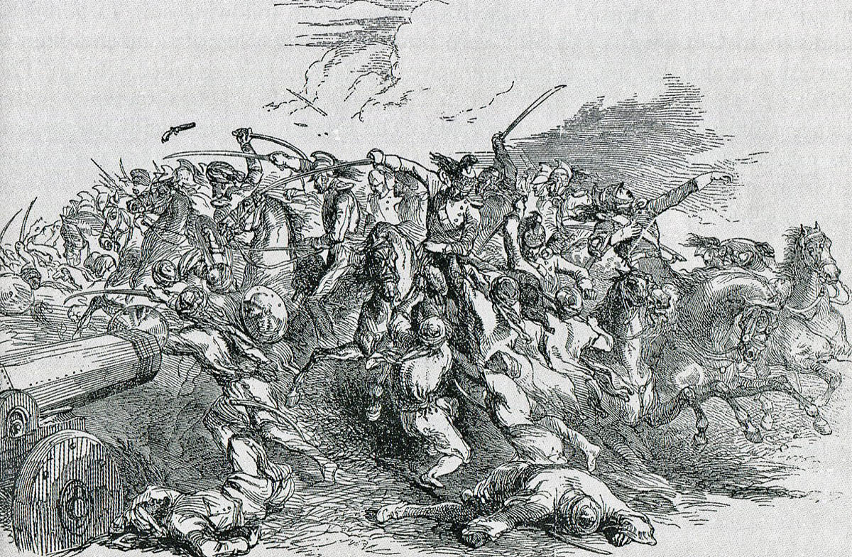 Death of General Cureton at the Battle of Ramnagar on 22nd November 1848 during the Second Sikh War
