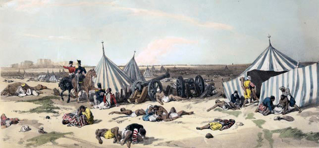 The Sikh Camp after the Battle of Ferozeshah on 22nd December 1845 during the First Sikh War
