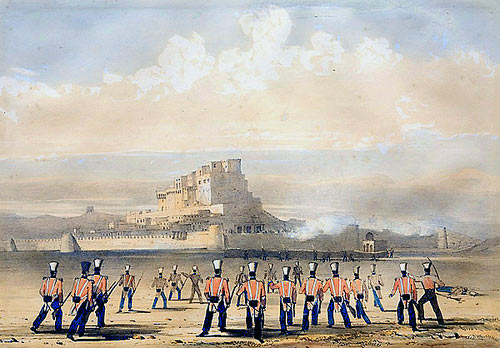 Attack on Khelat: Battle of Ghuznee on 23rd July 1839 in the First Afghan War