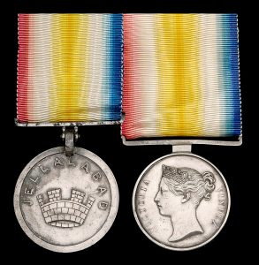 Jellalbad medal issued by the East India Company for the Siege of Jellalabad from 12th November 1841 to 13th April 1842 during the First Afghan War