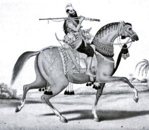 Sikh Cavalryman: Battle of Sobraon on 10th February 1846 during the First Sikh War