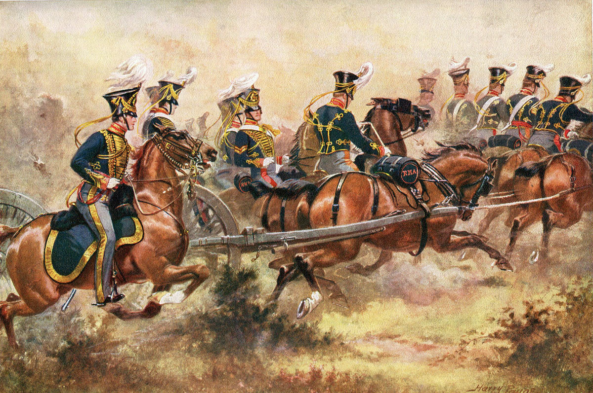 Royal Horse Artillery Battery: Battle of Kabul 1842 in the First Afghan War: picture by Harry Payne: buy this picture