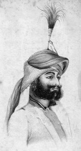 Shere Singh, Sikh commander at the Battle of Goojerat on 21st February 1849 during the Second Sikh War