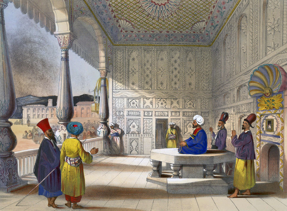 Shah Shuja holding court in Kabul: Battle of Kabul 1842 in the First Afghan War