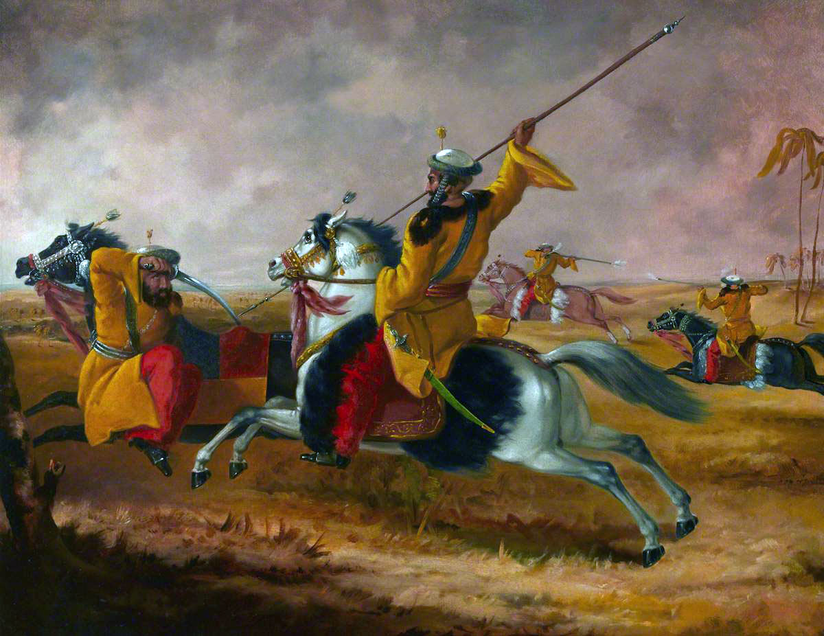 Skinner's Horse at exercise: Siege of Jellalabad from 12th November 1841 to 13th April 1842 during the First Afghan War