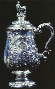 The Ramnuggur Cup, given to the 14th Light Dragoons by the 5th Bengal Light Cavalry after the Battle of Ramnagar on 22nd November 1848 during the Second Sikh War