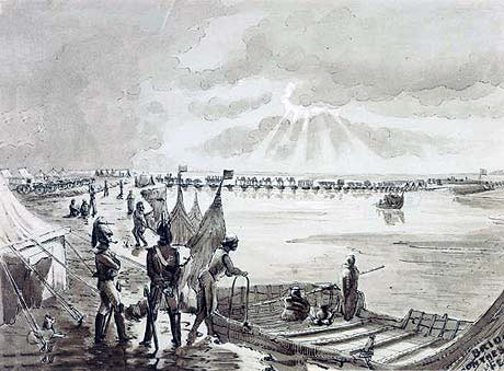 Bridging the Sutlej River: Battle of Sobraon on 10th February 1846 during the First Sikh War