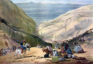 The British Army marching out of the mountains into Central Afghanistan: Battle of Kabul 1842 in the First Afghan War