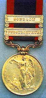 Sutlej Campaign, 1845-6 Medal with clasp for the Battle of Sobraon on 10th February 1846 during the First Sikh War