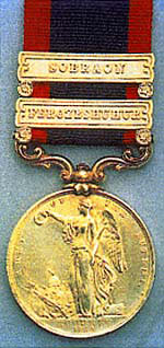 First Sikh War medal: Battle of Moodkee on 18th December 1845 during the First Sikh War