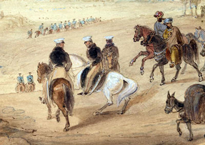 General Sir John Keane at Quetta: Battle of Ghuznee on 23rd July 1839 in the First Afghan War