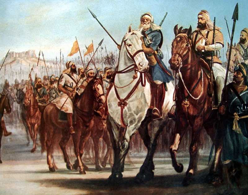 Sikh Horsemen: Battle of Moodkee on 18th December 1845 during the First Sikh War