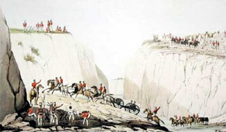 Shah Shujah's Battery: Battle of Ghuznee on 23rd July 1839 in the First Afghan War
