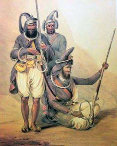 Akali Sikhs: Battle of Ferozeshah on 22nd December 1845 during the First Sikh War