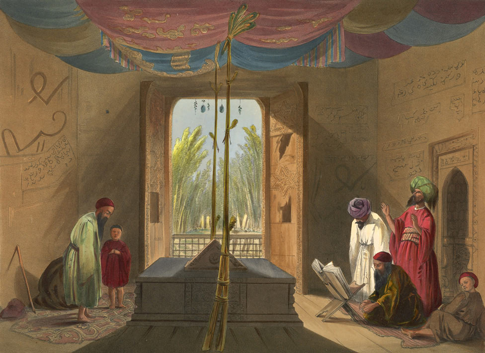The gates in the toomb of Sultan Mahmud of Ghuznee, removed by Brigadier Nott: Battle of Kabul 1842 in the First Afghan War