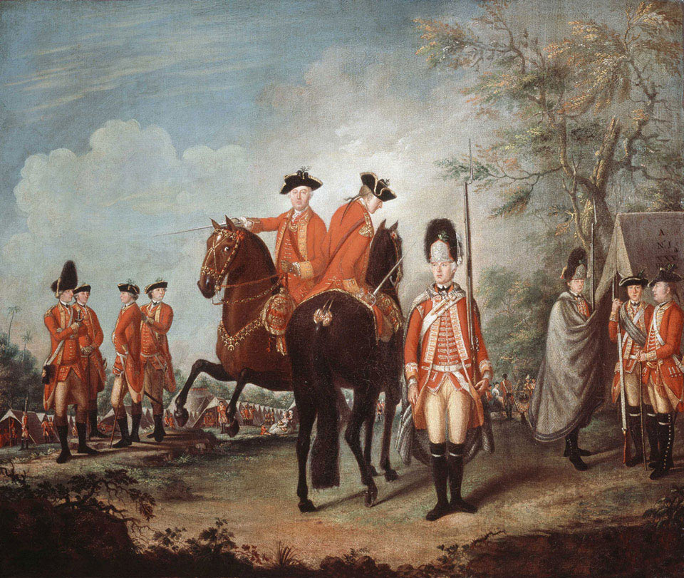 British infantry regiment: Siege of Charleston April and May 1780 in the American Revolutionary War