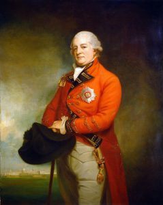 Lieutenant Colonel Archibald Campbell, British commander at the capture of Savannah on 28th December 1778 in the American Revolutionary War: picture by George Romney