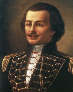 Casimir Pulaski, fatally wounded during the attack on Savannah on 9th October 1779 during the American Revolutionary War