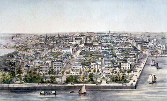 Waterfront of the City of Charleston: Siege of Charleston April and May 1780 in the American Revolutionary War