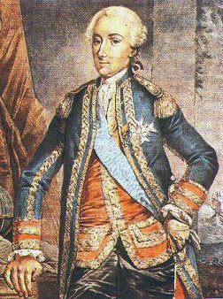 Comte D'Estaing, French commander at the Siege of Savannah, September and October 1779 in the American Revolutionary War