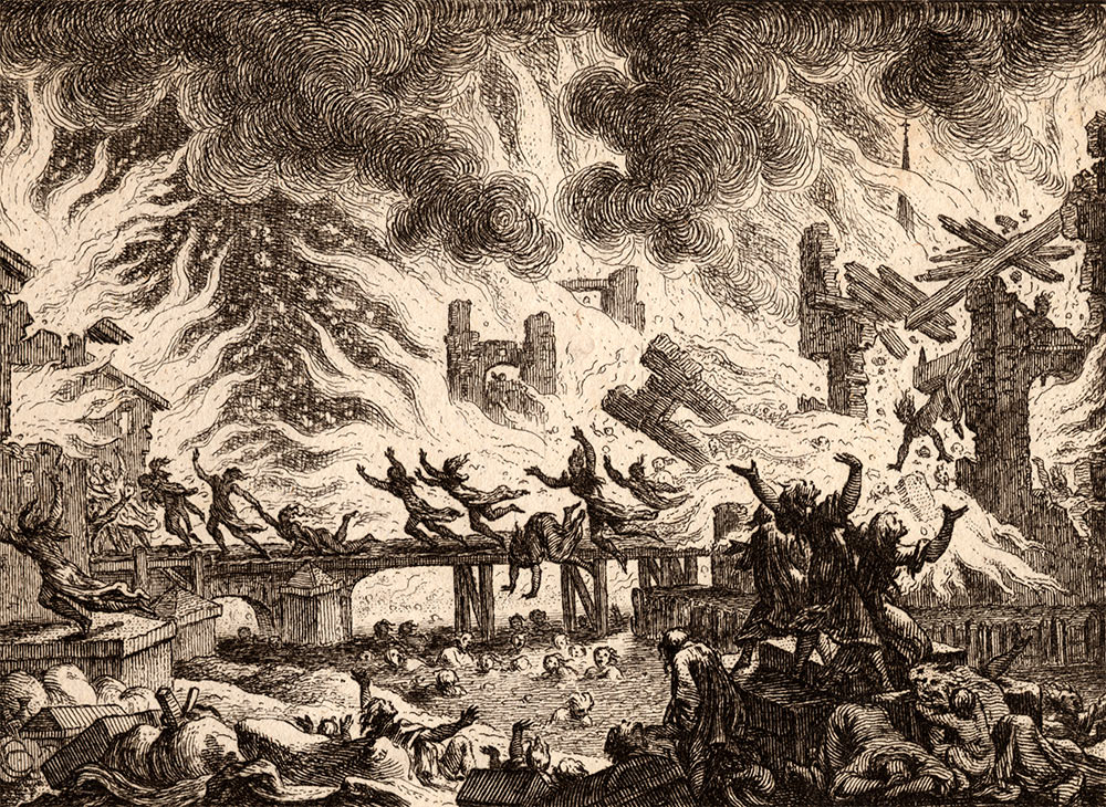 The explosion of the armoury in Charleston on 14th May 1780: Siege of Charleston April and May 1780 in the American Revolutionary War