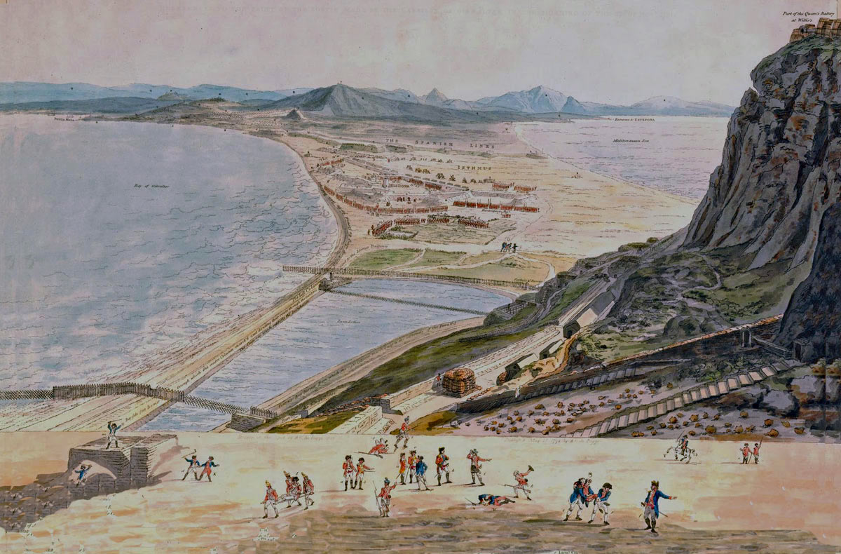 The British Sortie on 26th November 1781: the Great Siege of Gibraltar from 1779 to 1783 during the American Revolutionary War: picture by A.C Poggi