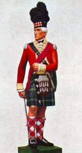 Officer of the 73rd Highlanders in 1780: the Great Siege of Gibraltar from 1779 to 1783 during the American Revolutionary War: statuette by Pilkington Jackson