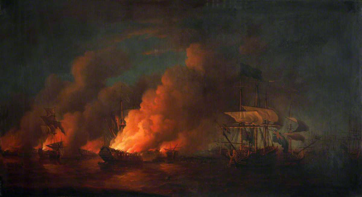 The Spanish Fire Ship attack on the night of 6th/7th June 1780: the Great Siege of Gibraltar from 1779 to 1783 during the American Revolutionary War