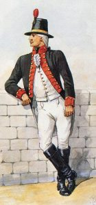 Royal Artillery gunner: the Great Siege of Gibraltar from 1779 to 1783 during the American Revolutionary War: picture by Richard Simkin