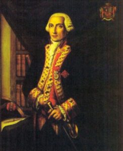 Don Juan de Langara, Spanish Admiral at the 'Moonlight Battle' on 16th January 1780: the Great Siege of Gibraltar from 1779 to 1783 during the American Revolutionary War
