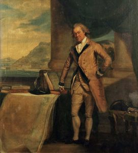 Major General Sir William Green in later life, with Gibraltar seen through the window: the Great Siege of Gibraltar from 1779 to 1783 during the American Revolutionary War
