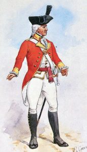 Sergeant Major in the Soldier Artificer Company: the Great Siege of Gibraltar from 1779 to 1783 during the American Revolutionary War: picture by Richard Simkin