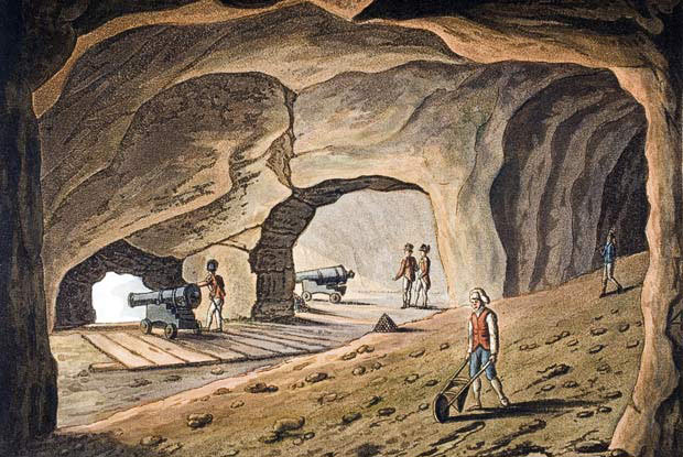 Tunnels built in the Rock: the Great Siege of Gibraltar from 1779 to 1783 during the American Revolutionary War