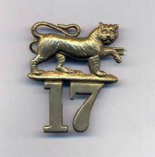 Badge of the 17th Regiment with the Tiger emblem awarded for long service in India: Battle of Ali Masjid on 21st November 1878 in the Second Afghan War
