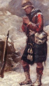 92nd Highlander in Afghanistan: Battle of Kabul December 1879 in the Second Afghan War: picture by Skeoch Cumming