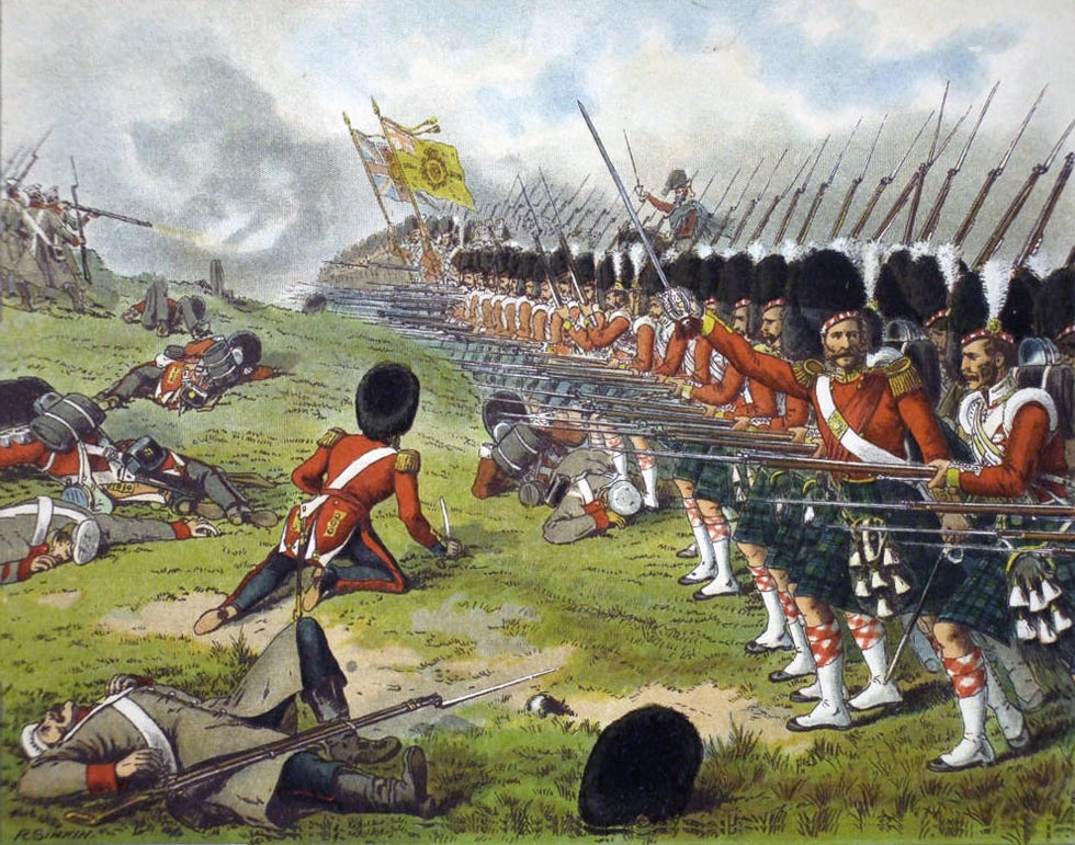 93rd Highlanders at the Battle of the Alma on 20th September 1854 during the Crimean War
