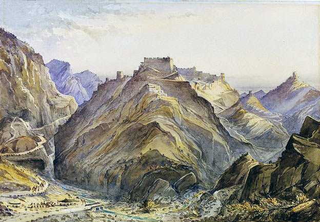 The Afghan fort of Ali Masjid in the Khyber Pass: Battle of Ali Masjid on 21st November 1878 in the Second Afghan War