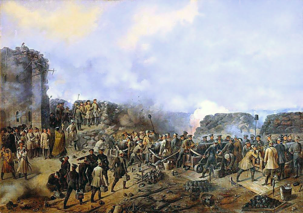 Russian troops inside the Malakhov: Siege of Sevastopol September 1854 to September 1855: picture by Grigory Shukaev