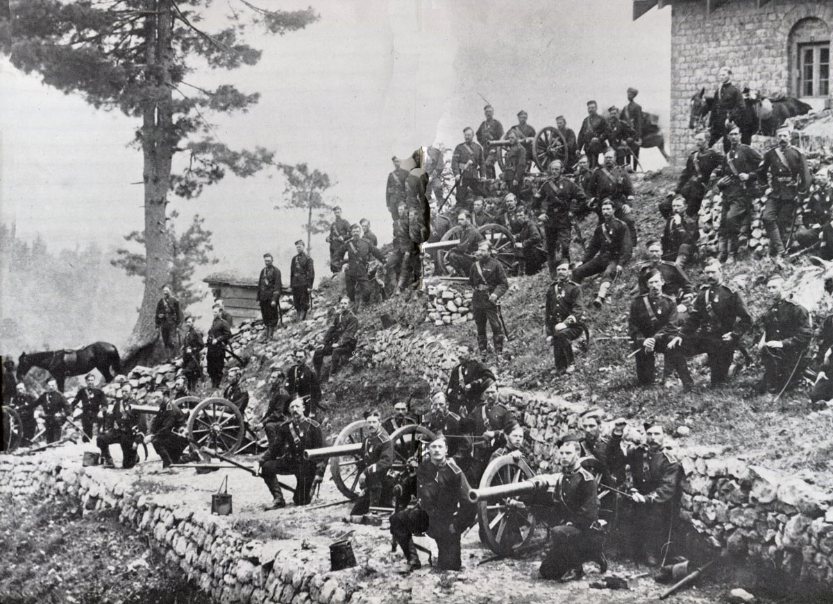 British mountain gun battery: Battle of Peiwar Kotal on 2nd December 1878 in the Second Afghan War