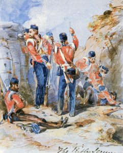 British 'rifle team' in the trenches: Siege of Sevastopol September 1854 to September 1855