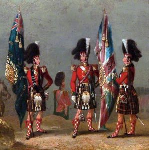 Colours of the 79th Highlanders: the Battle of the Alma on 20th September 1854 during the Crimean War