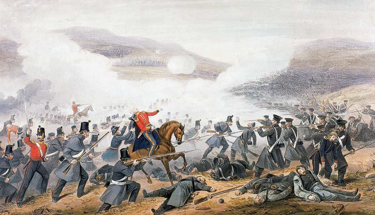 Death of General Sir George Cathcart at the Battle of Inkerman on 5th November 1854 in the Crimean War