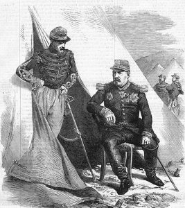 General Bosquet and staff officer: Battle of Inkerman on 5th November 1854 in the Crimean War