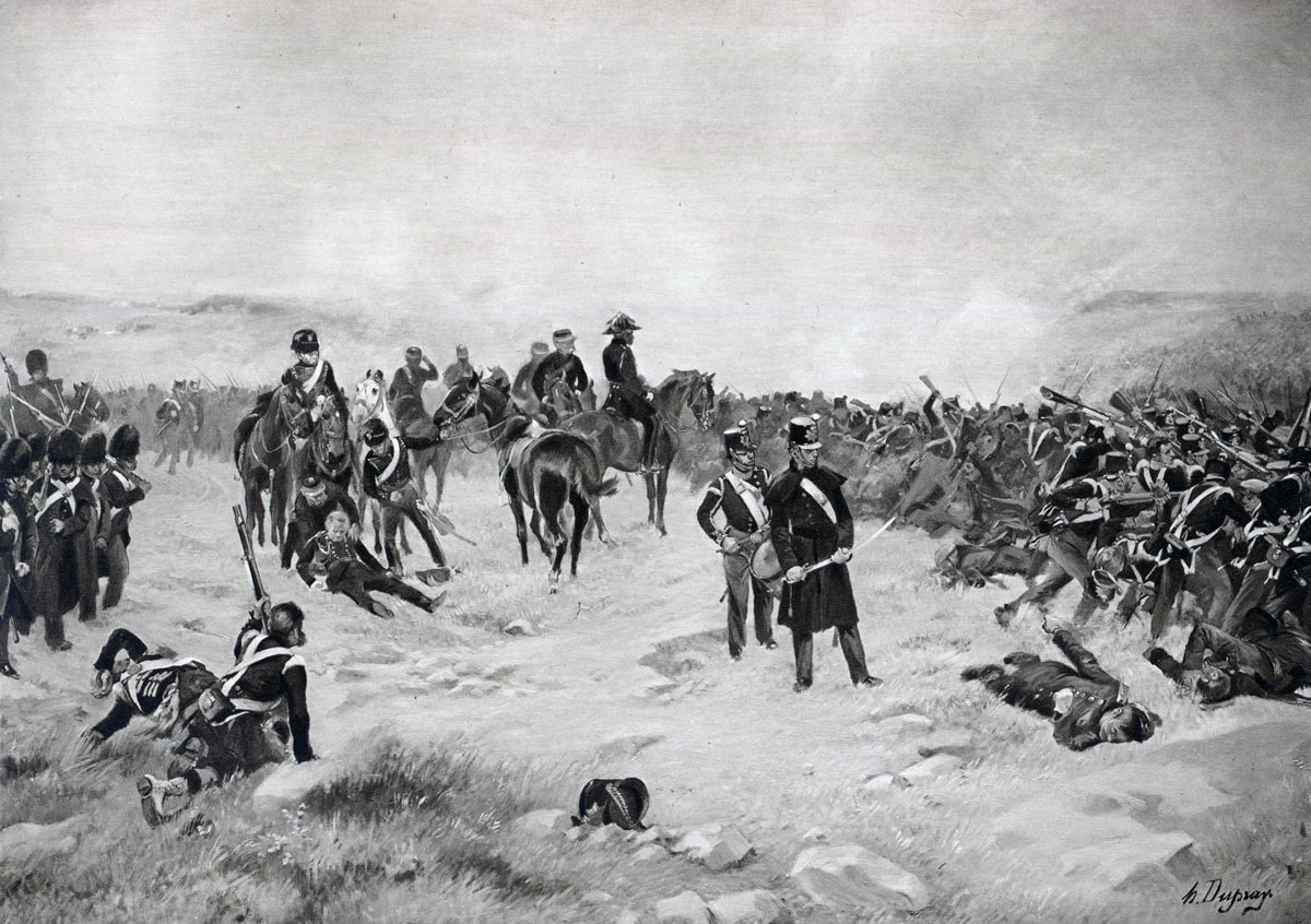 Battle of Inkerman on 5th November 1854 in the Crimean War: picture by Henri Dupray