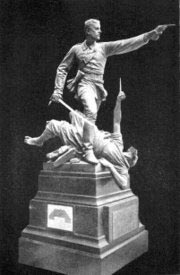 Statue of Lieutenant Walter Hamilton VC dying in Kabul: Battle of Futtehabad on 2nd April 1879 in the Second Afghan War