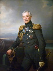 Prince Menshikov, Russian commander-in-chief in the Crimea: the Battle of the Alma on 20th September 1854 during the Crimean War