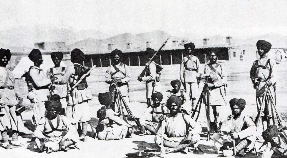 Soldiers from the 23rd Pioneers holding the Indian Order of Merit: Battle of Peiwar Kotal on 2nd December 1878 in the Second Afghan War