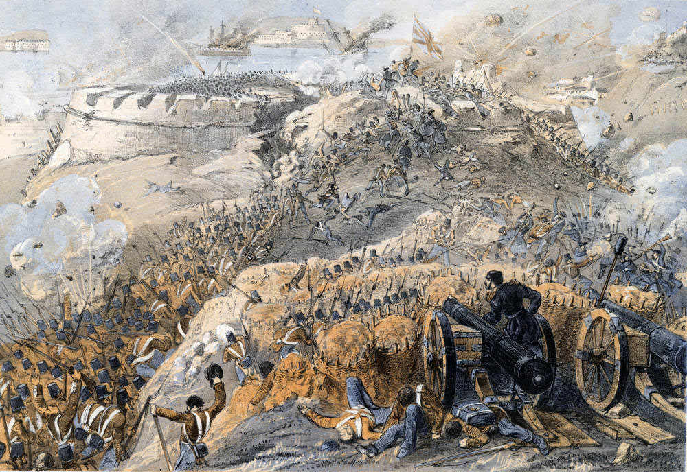 British attack on the Great Redan on 8th September 1855: Siege of Sevastopol September 1854 to September 1855 in the Crimean War