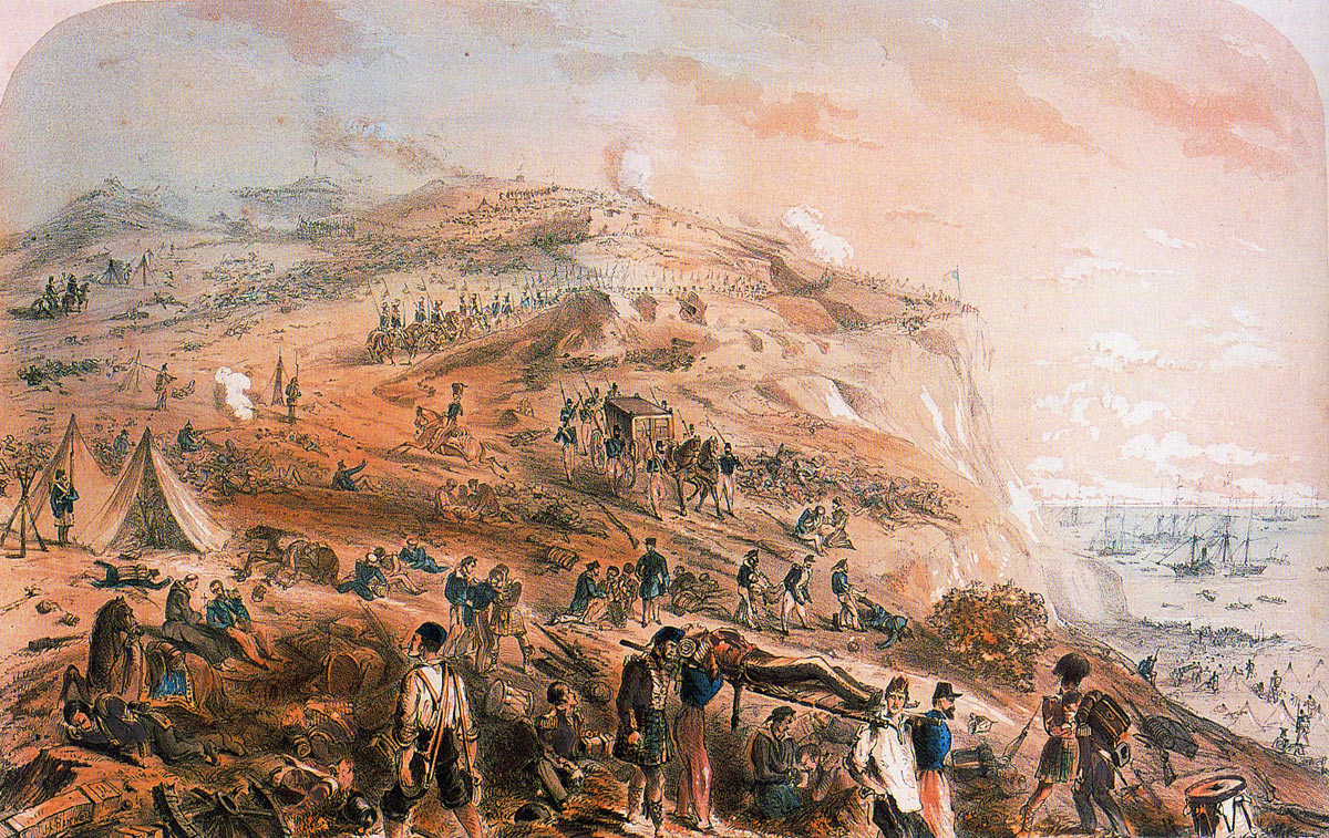 The ridge on the day after the Battle of the Alma on 20th September 1854 during the Crimean War